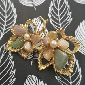 RARE Vintage Leaf Brooch